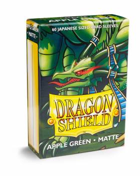 Dragon Shield Small Sleeves - Japanese Matte Apple Green