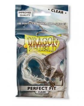 Dragon Shield Perfect Fit Sleeves - Clear (100 Sleeves)