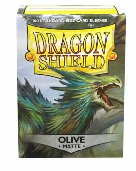 Dragon Shield Standardgröße  - Olive Matte 100