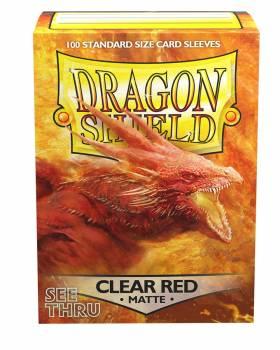 Dragon Shield Standardgröße  - Clear Red Matte 100