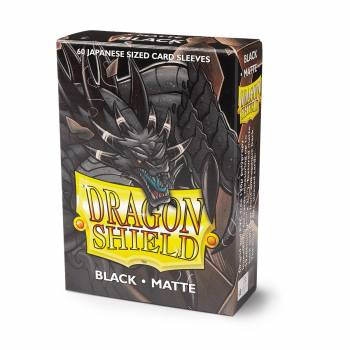 Dragon Shield Small Sleeves - Japanese Matte Black