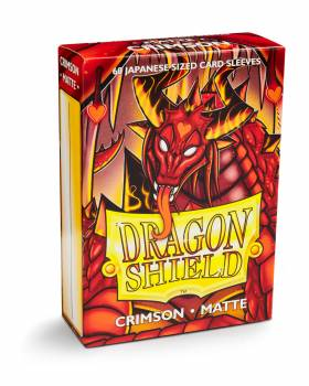 Dragon Shield Small Sleeves - Japanese Matte Crimson